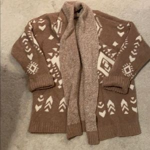 Plush Tan Tribal Cardigan